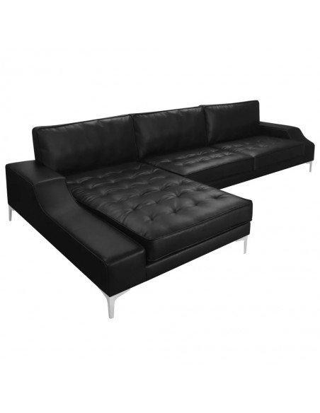 CANAPE D'ANGLE CONTEMPORAIN GEORGE XXL CUIR SYNTHETIQUE CANAPÉS
