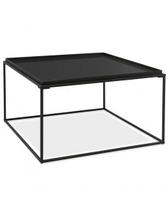 TABLE BASSE CONTEMPORAINE EN VERRE EFFET MIROIR TABLES BASSES