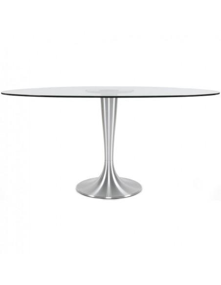 TABLE A MANGER OVALE EN VERRE TABLES A MANGER
