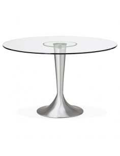 TABLE A MANGER RONDE EN VERRE D.120CM TABLES A MANGER
