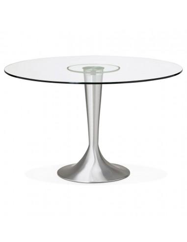 TABLE A MANGER RONDE EN VERRE D.120CM TABLES A MANGER