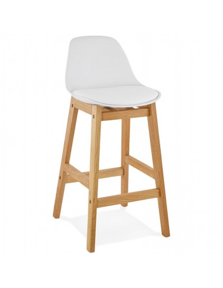 TABOURET DE BAR SCANDINAVE ANDREA CUIR SYNTHETIQUE TABOURETS DE BAR